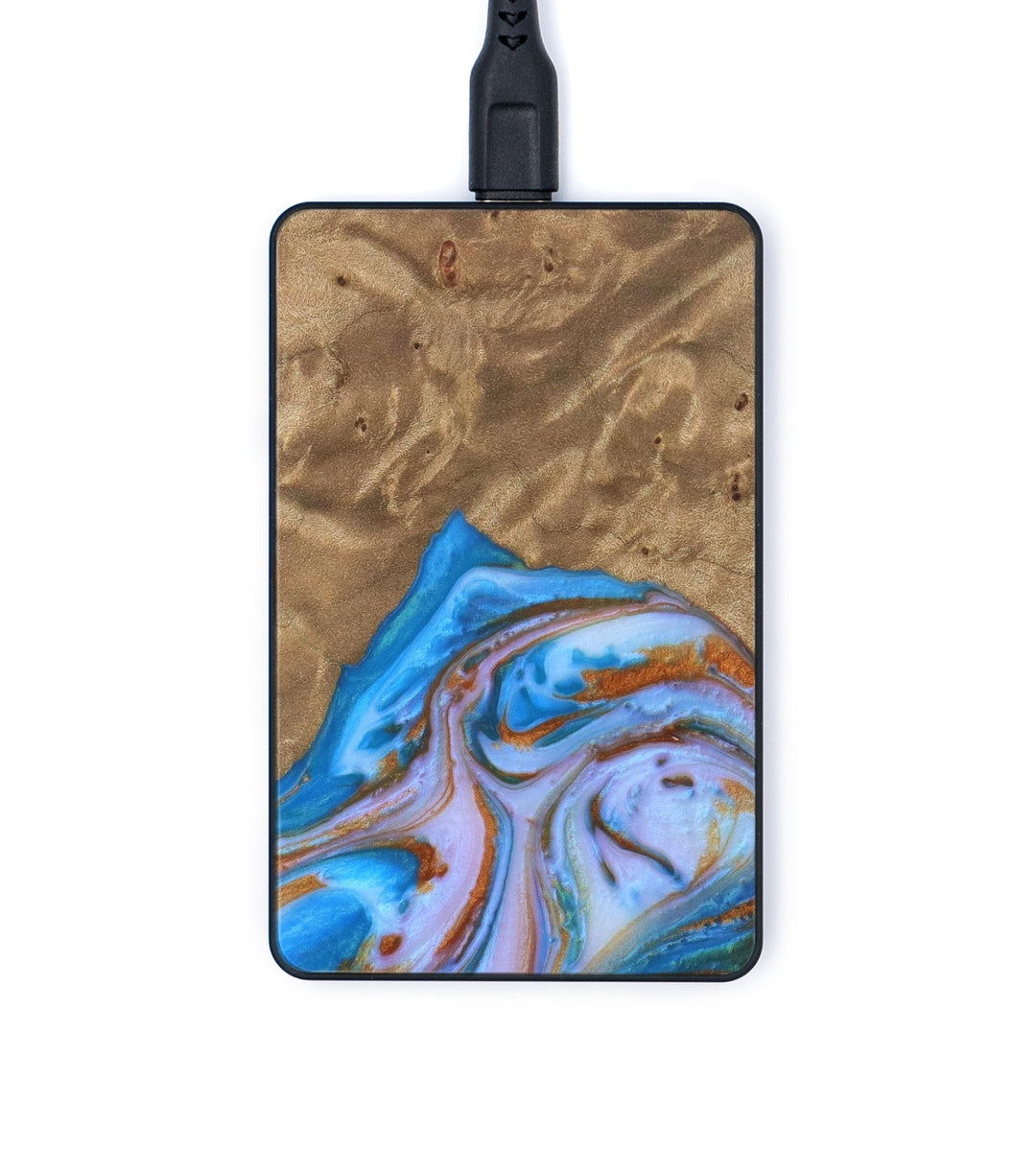 Thin Wireless Charger - Atlanta (Teal & Gold, 335907)