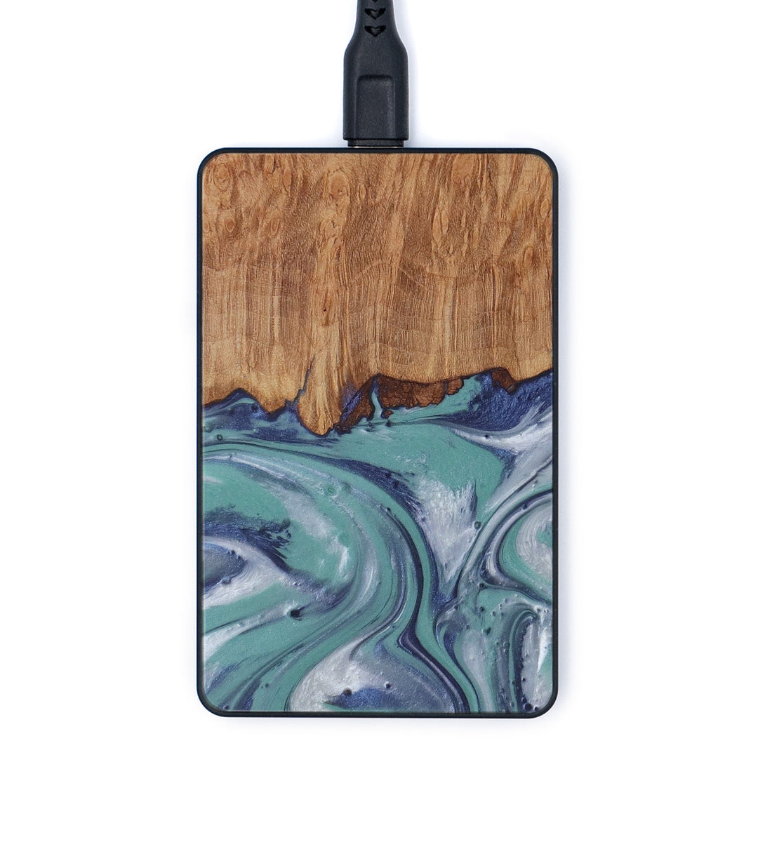 Thin Wood+Resin Wireless Charger - Thi (Light Blue, 420529)