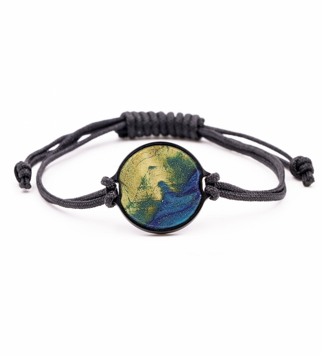 Circle Wood+Resin Bracelet - Luciano (Dark Blue, 358353)
