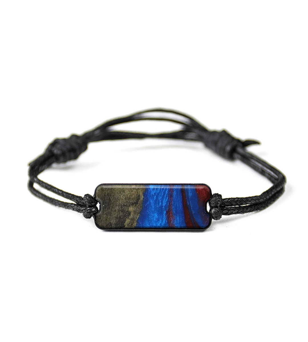 Classic Wood+Resin Bracelet - Gil (Blue & Red, 395581)