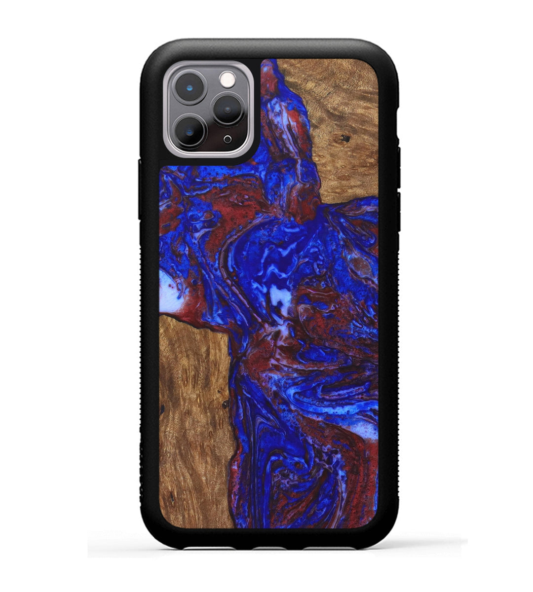 iPhone 11 Pro Wood+Resin Case - Nan (Blue & Red, 335008)