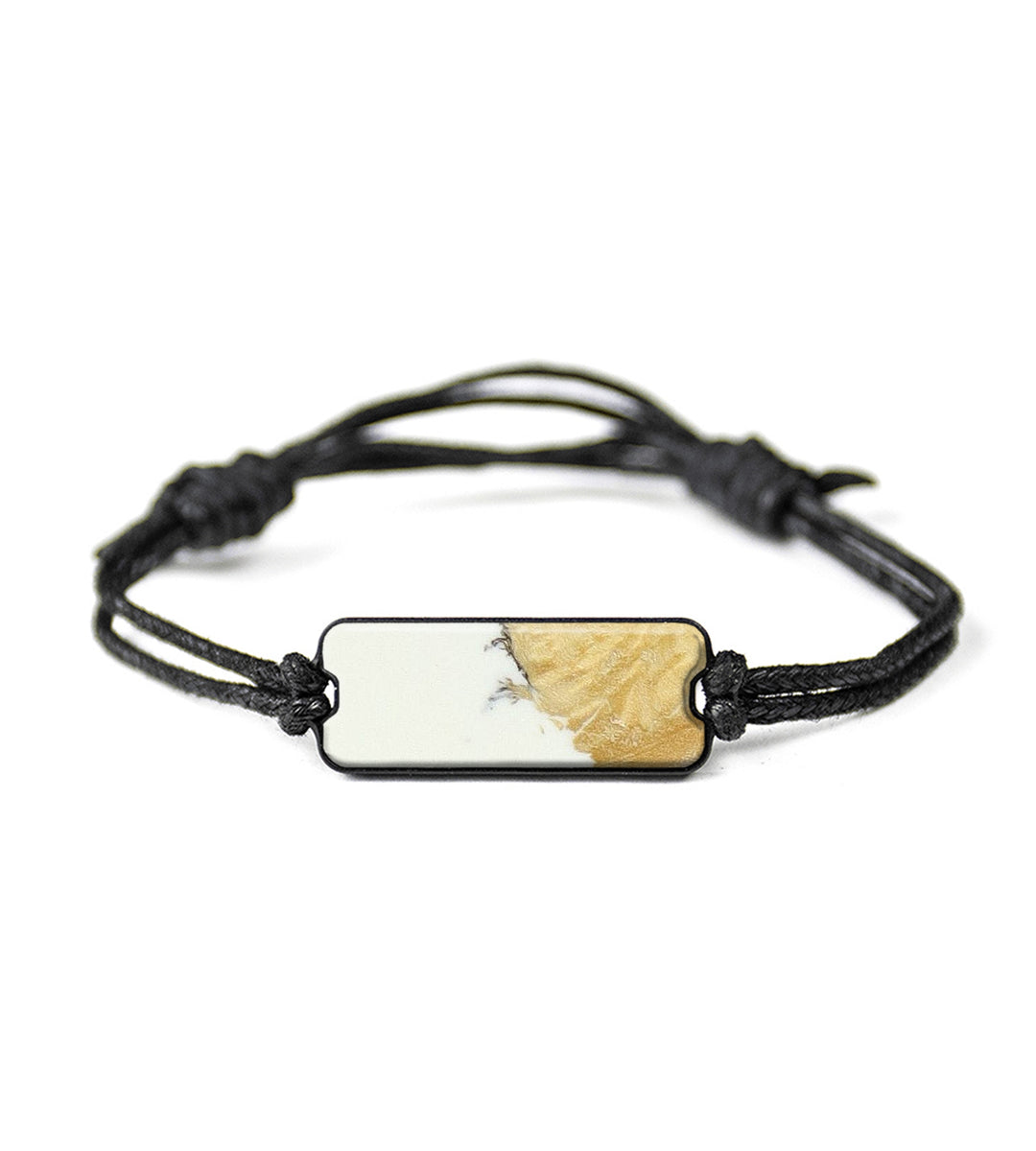 Classic Wood+Resin Bracelet - Berangere (Black & White, 394161)