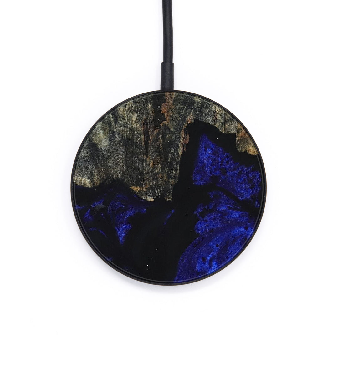 Circle Wood+Resin Wireless Charger - Inquire (Dark Blue, 393341)