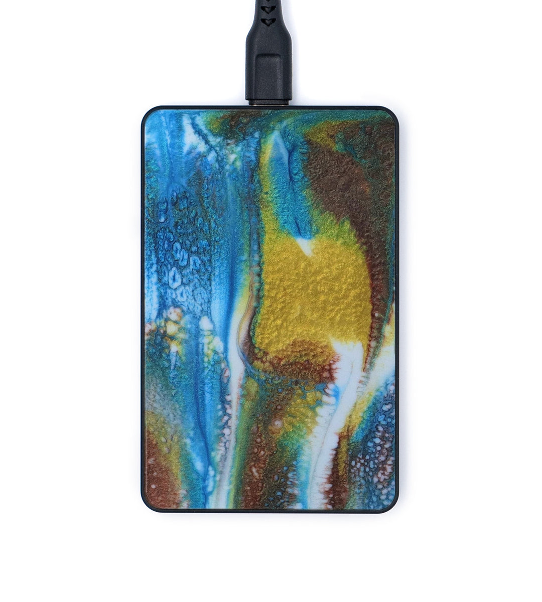Thin Wireless Charger - Cinda (Teal & Gold, 345928)