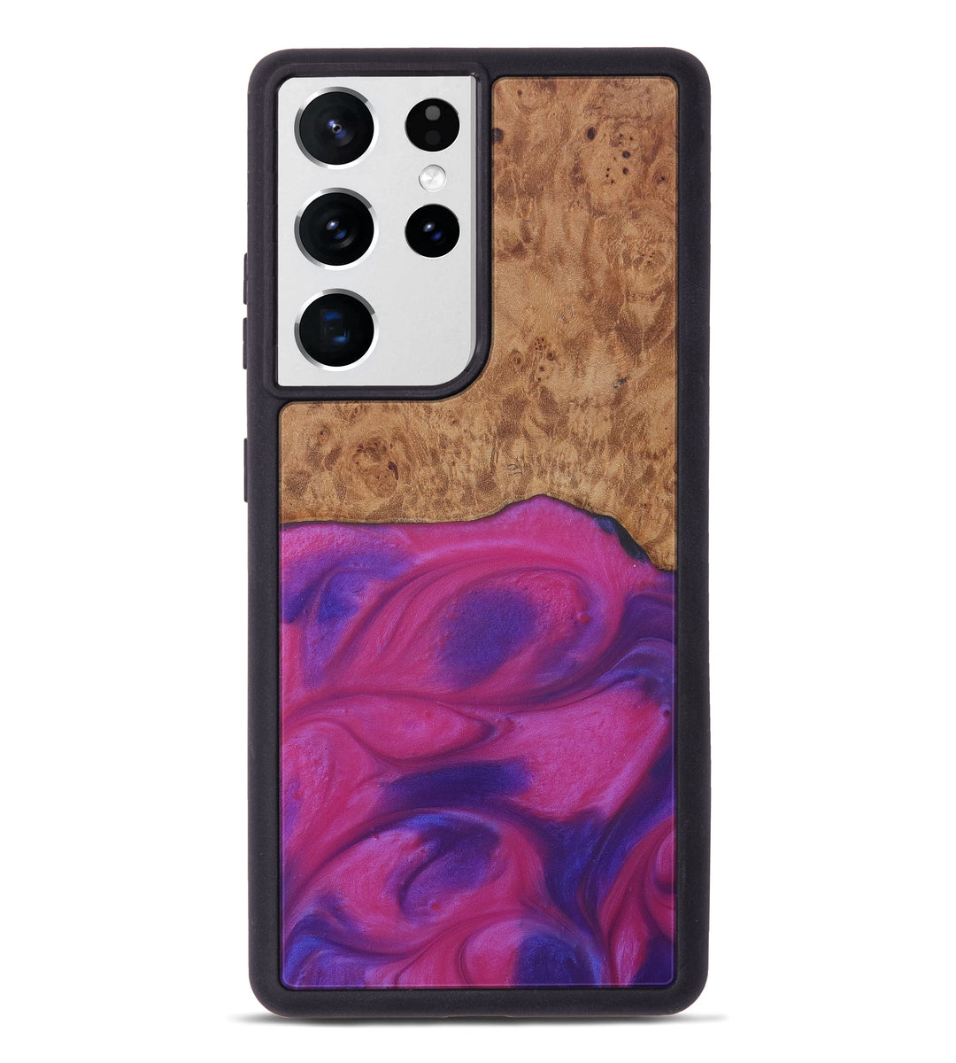 Galaxy S21 Ultra Wood+Resin Phone Case - Luise (Purple, 408663)