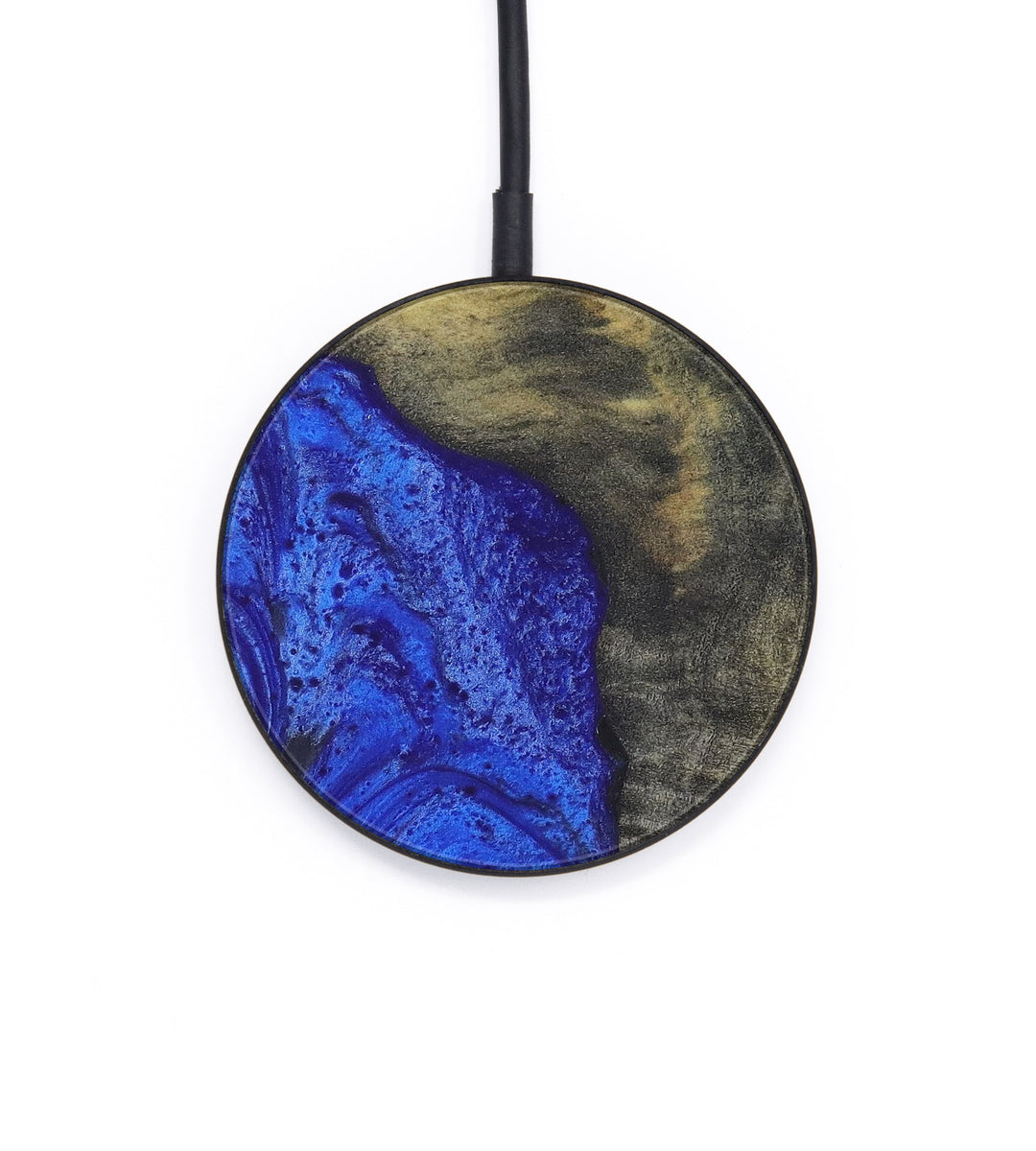 Circle Wood+Resin Wireless Charger - Marlena (Dark Blue, 405997)