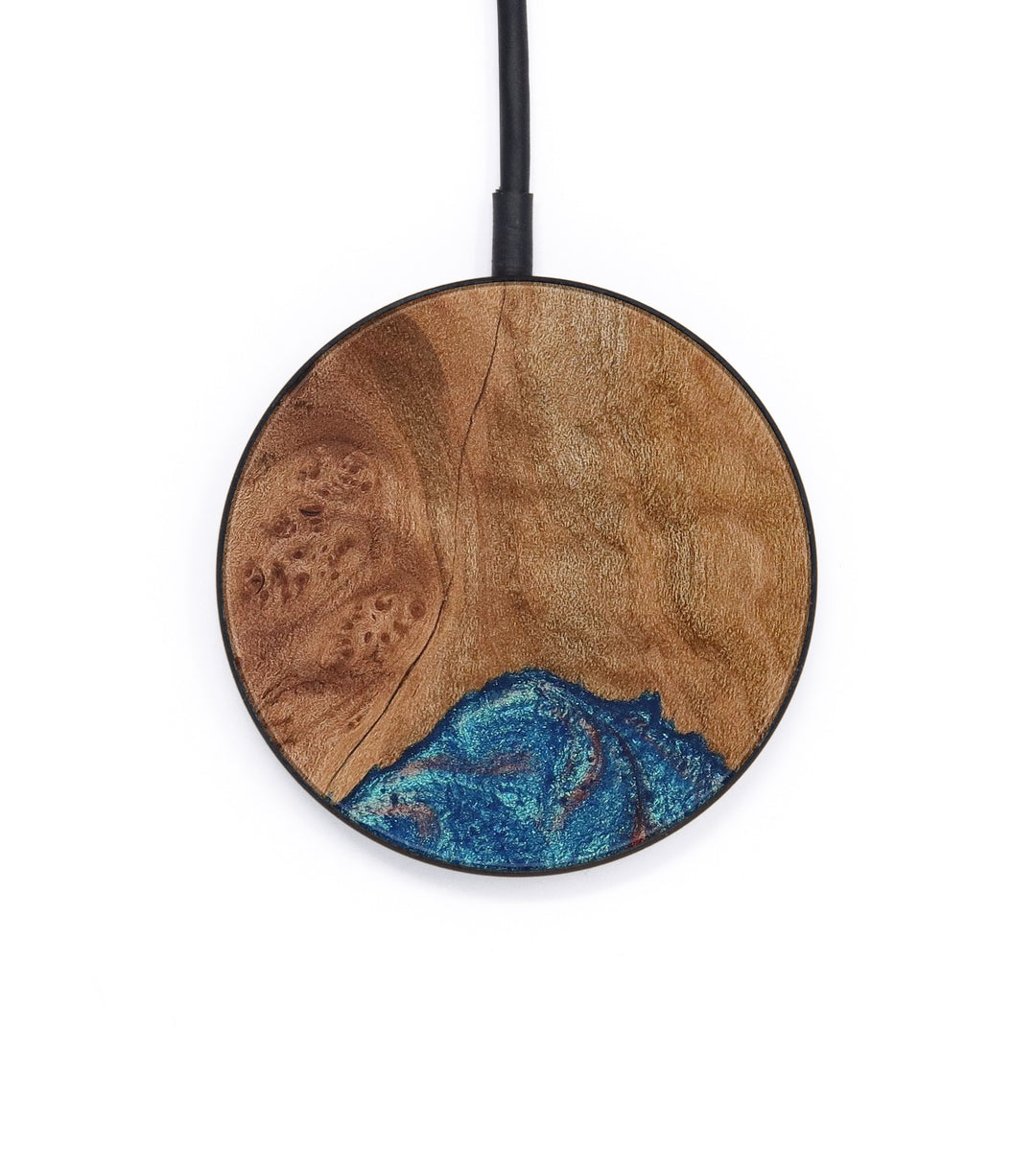 Circle Wood+Resin Wireless Charger - Isabel (Blue & Red, 386846)