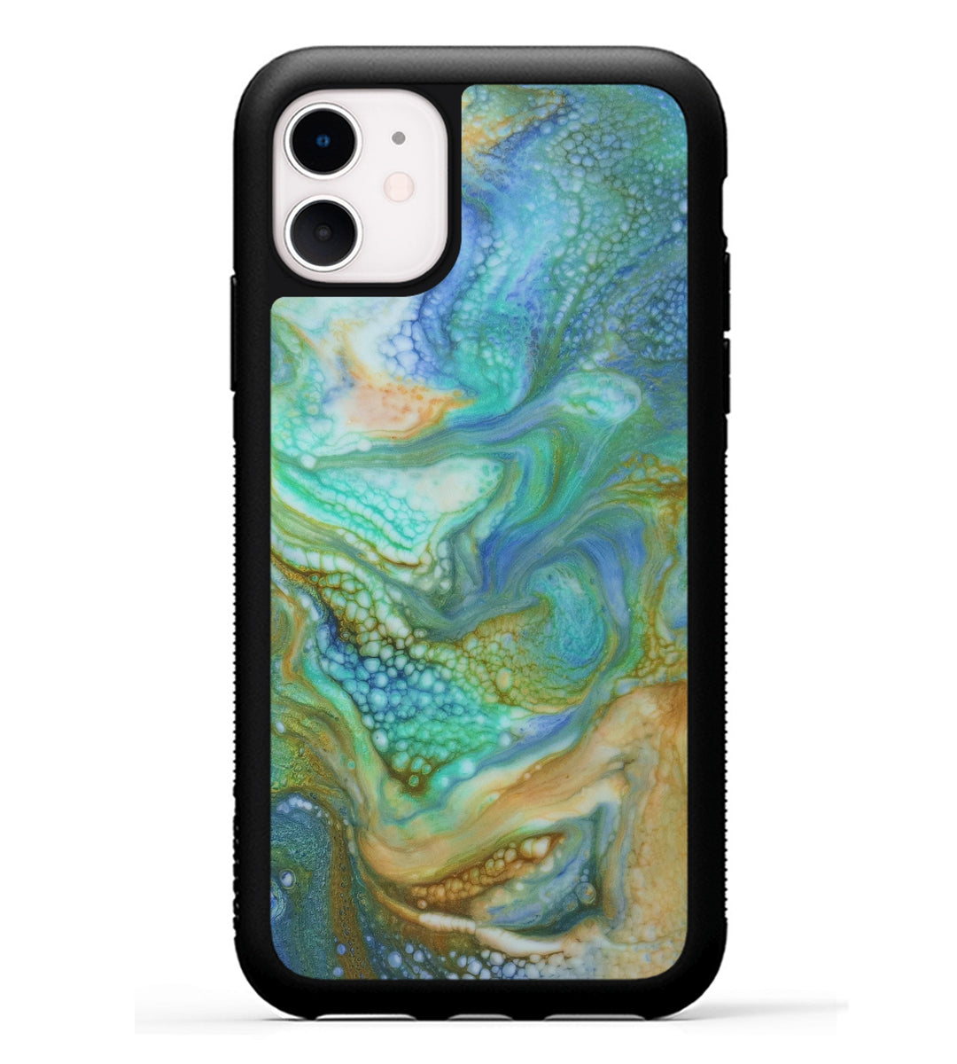 iPhone 11 Case - Batsheva (Teal & Gold, 346652)