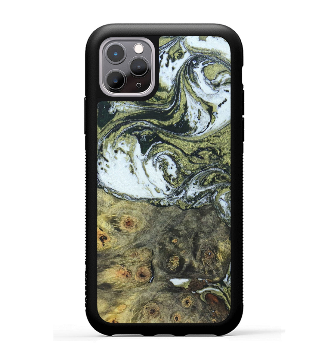 iPhone 11 Pro Wood+Resin Case - Danette (Black & White, 333982)