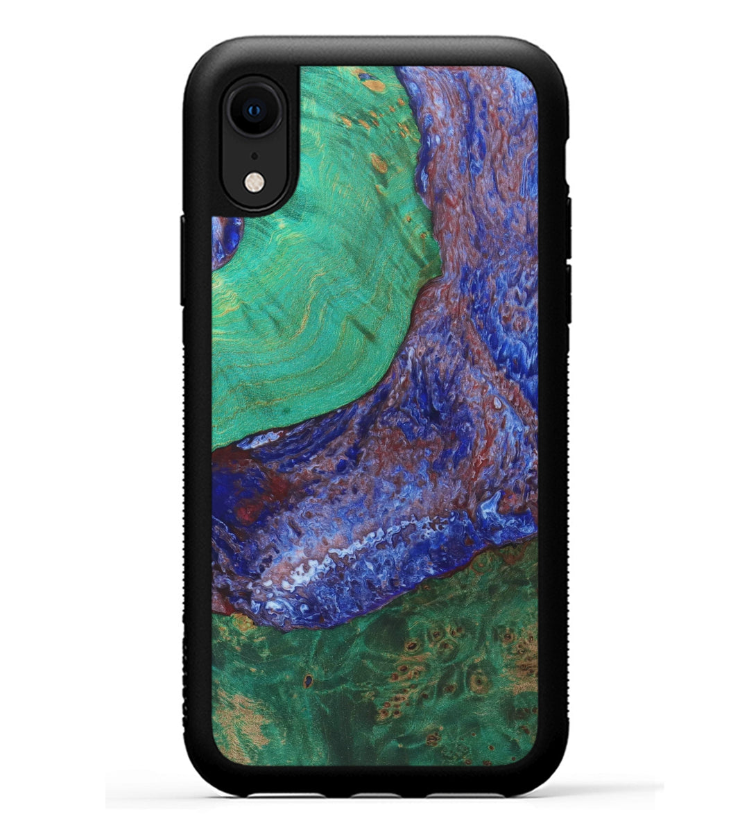 iPhone Xr Wood+Resin Case - Tyke (Blue & Red, 331794)