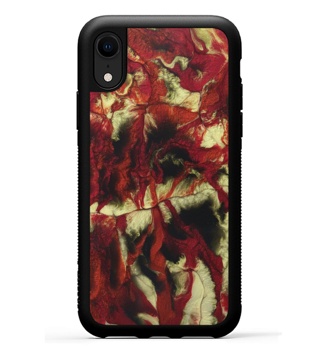 iPhone Xr ResinArt Phone Case - Liliana (Dark Red, 347943)
