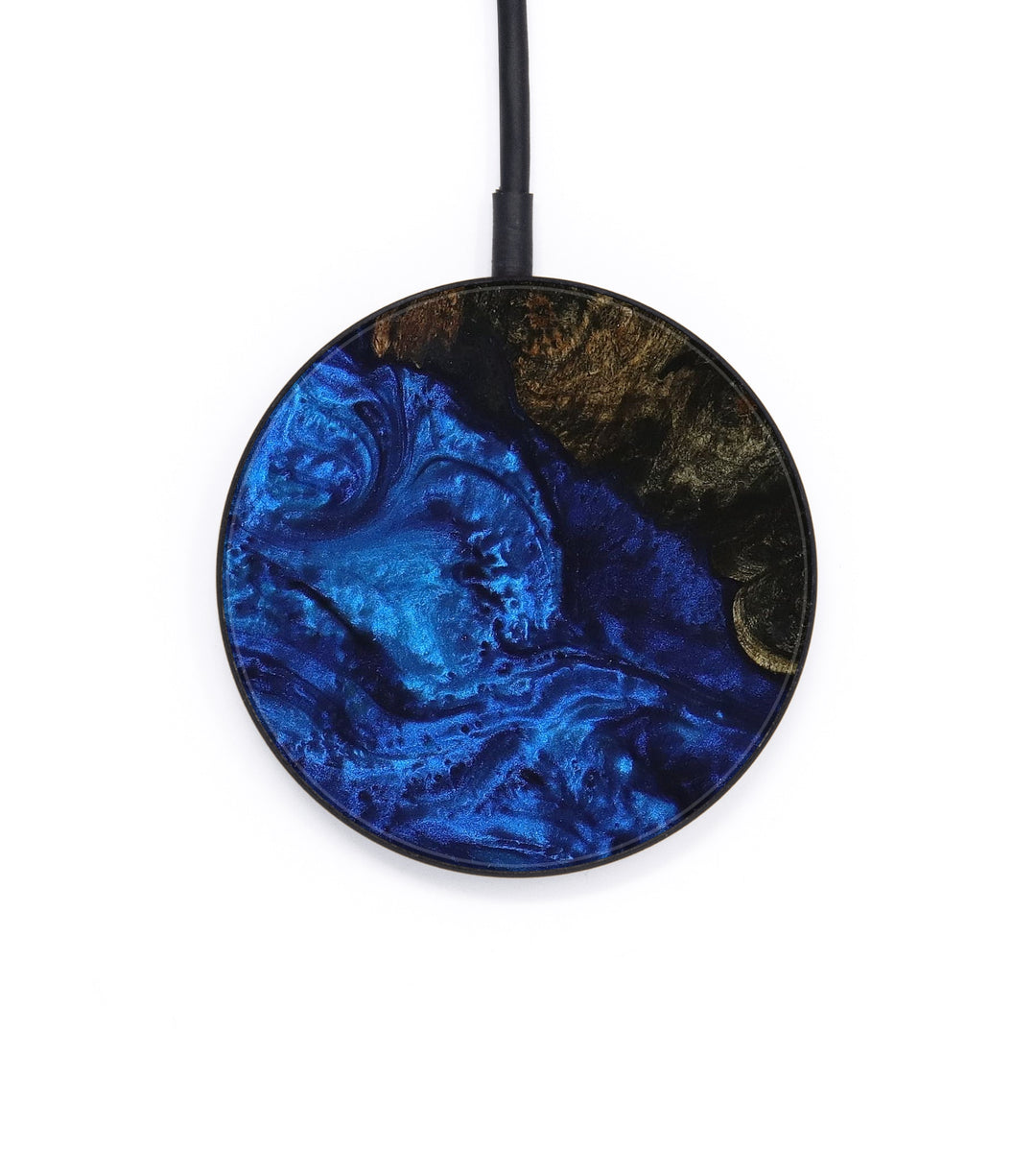 Circle Wood+Resin Wireless Charger - Mayeul (Dark Blue, 393393)