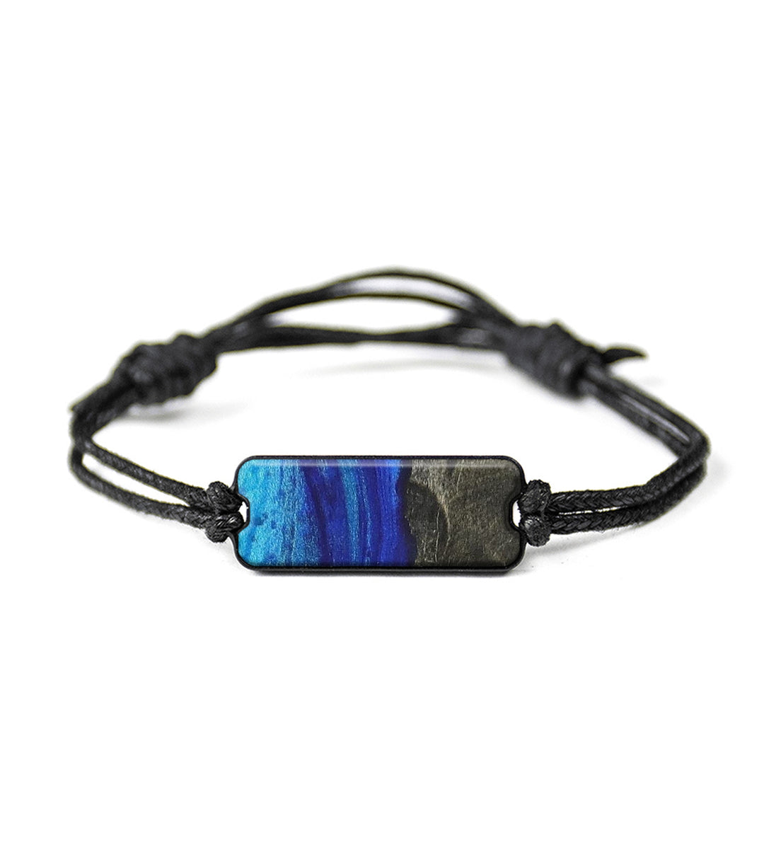 Classic Wood+Resin Bracelet - Shirleen (Dark Blue, 368942)
