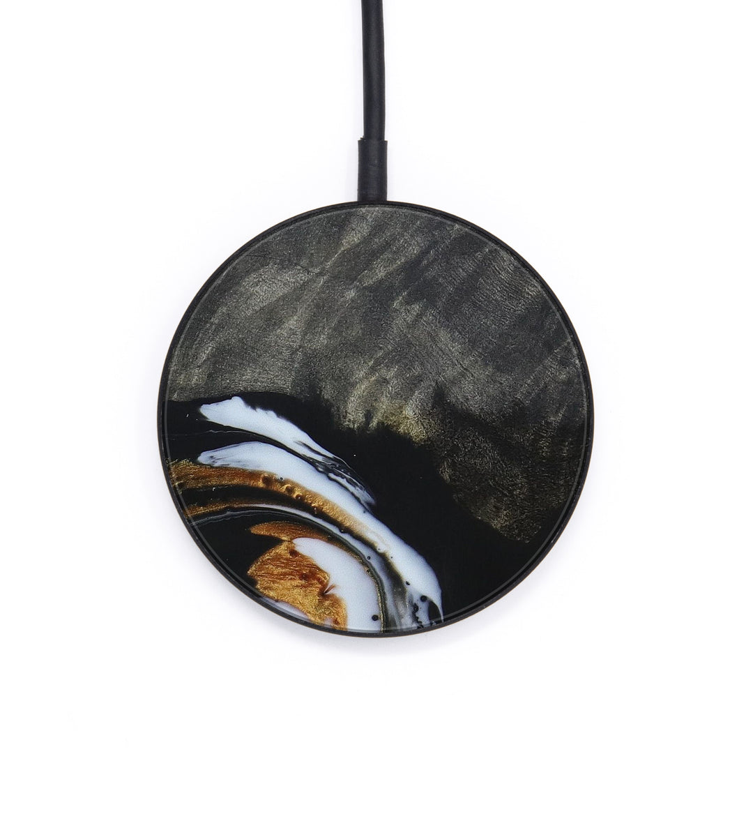 Circle Wood+Resin Wireless Charger - Blinni (Black & White, 404480)
