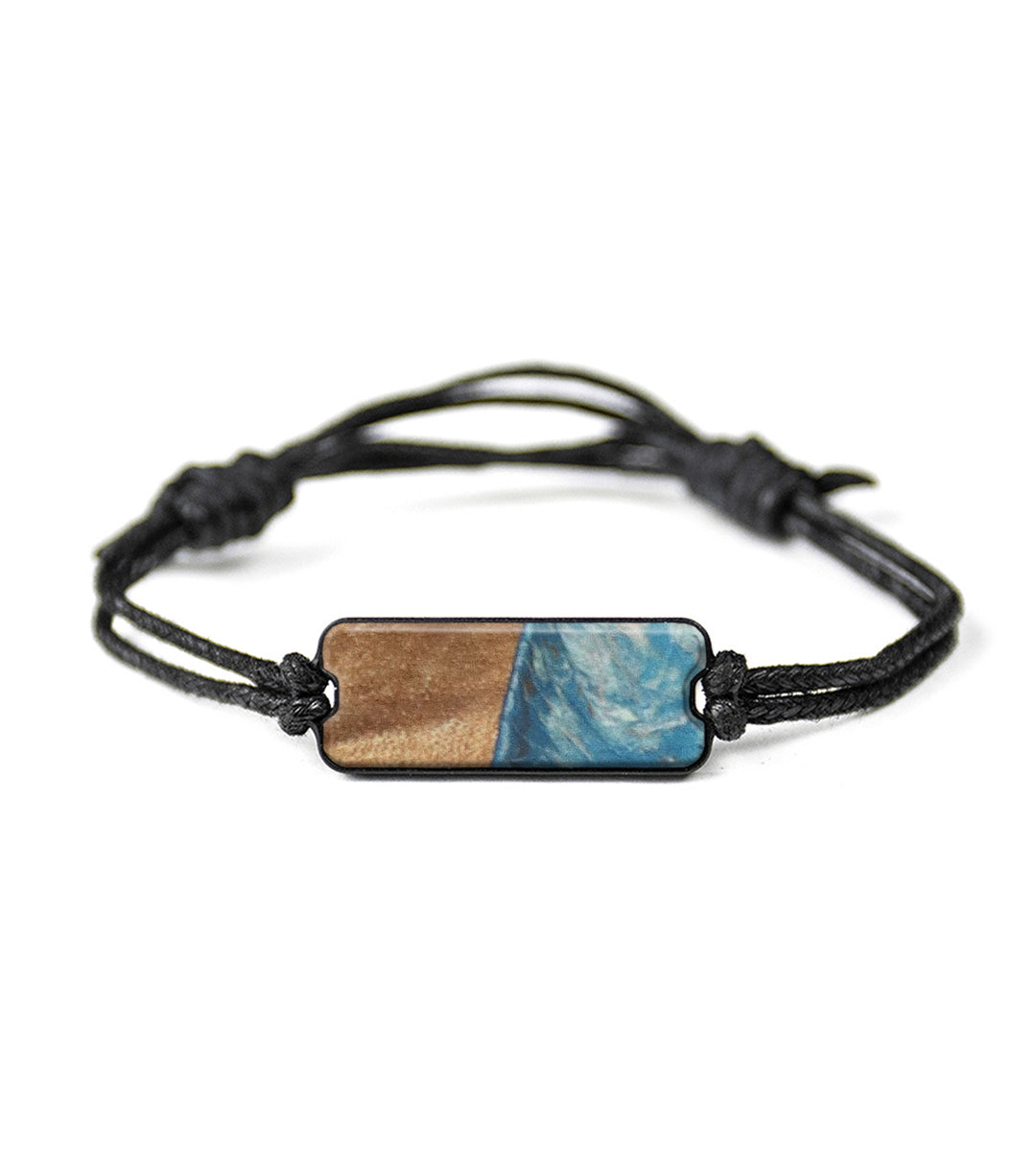 Classic Wood+Resin Bracelet - Tyronda (Teal & Gold, 358121)