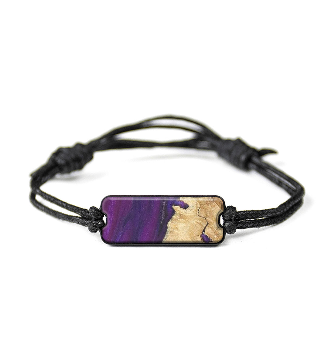 Classic Wood+Resin Bracelet - Bruno (Purple, 368976)
