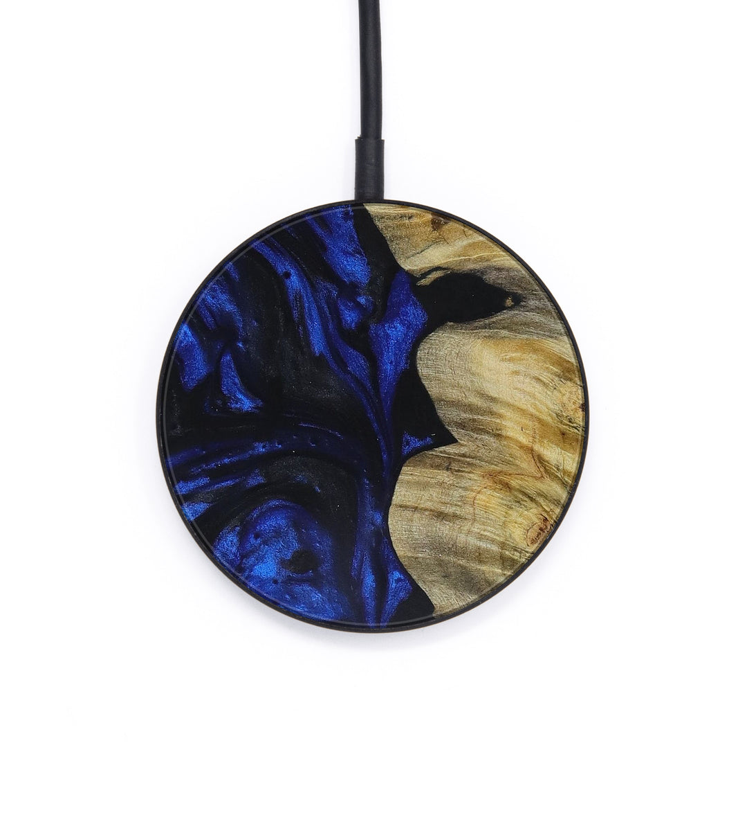 Circle Wood+Resin Wireless Charger - Shou (Dark Blue, 392932)