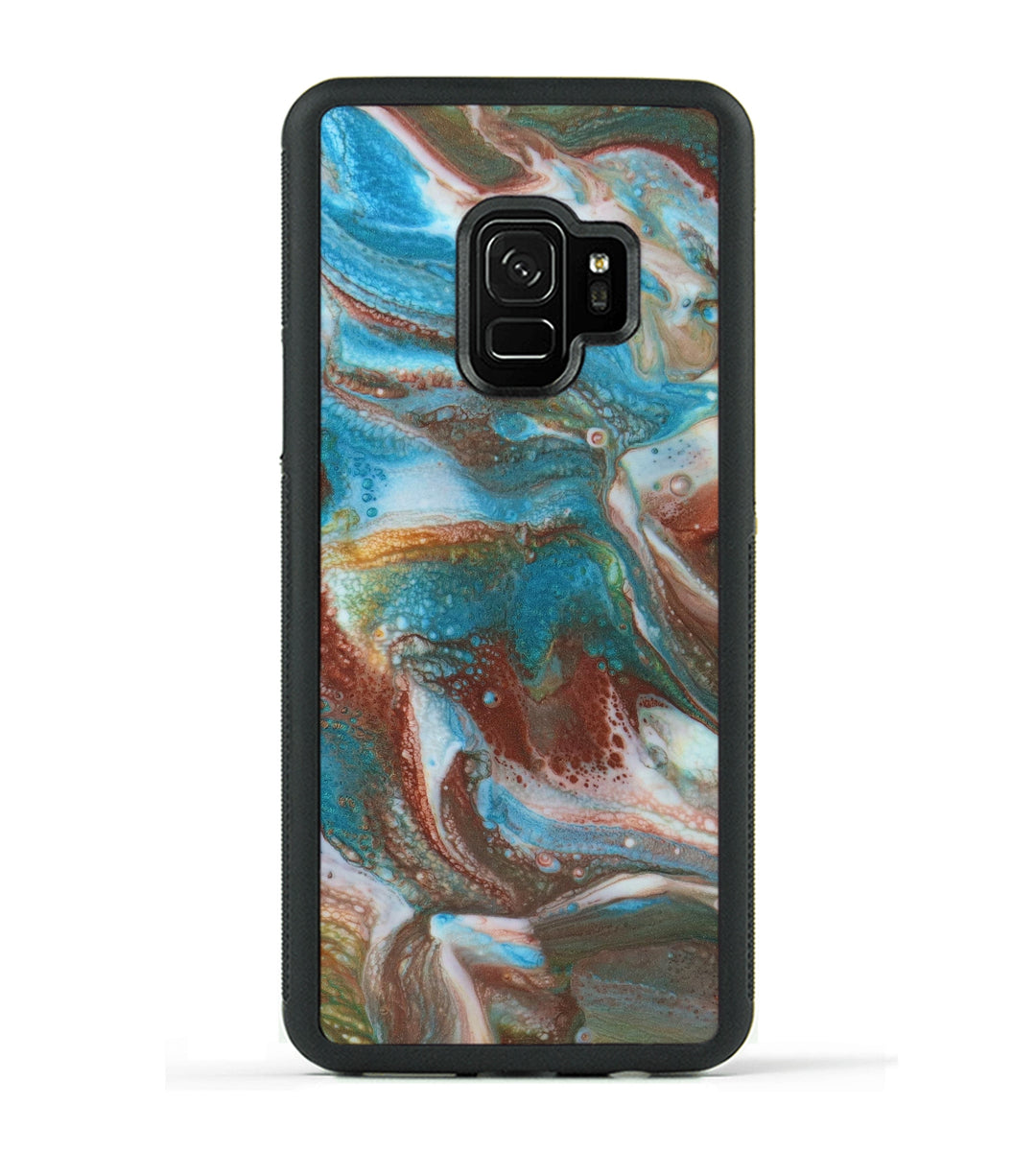 Galaxy S9 ResinArt Phone Case - Beatrix (Teal & Gold, 347754)
