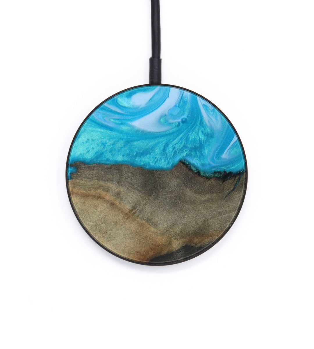 Circle Wood+Resin Wireless Charger - Aeriell (Light Blue, 402622)
