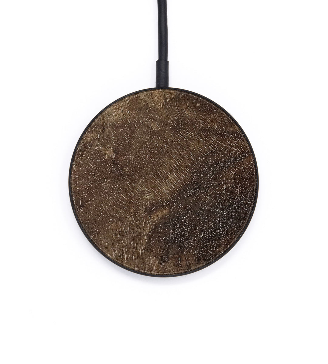 Circle Burl Wood Wireless Charger - Lydie (Walnut Burl, 404850)