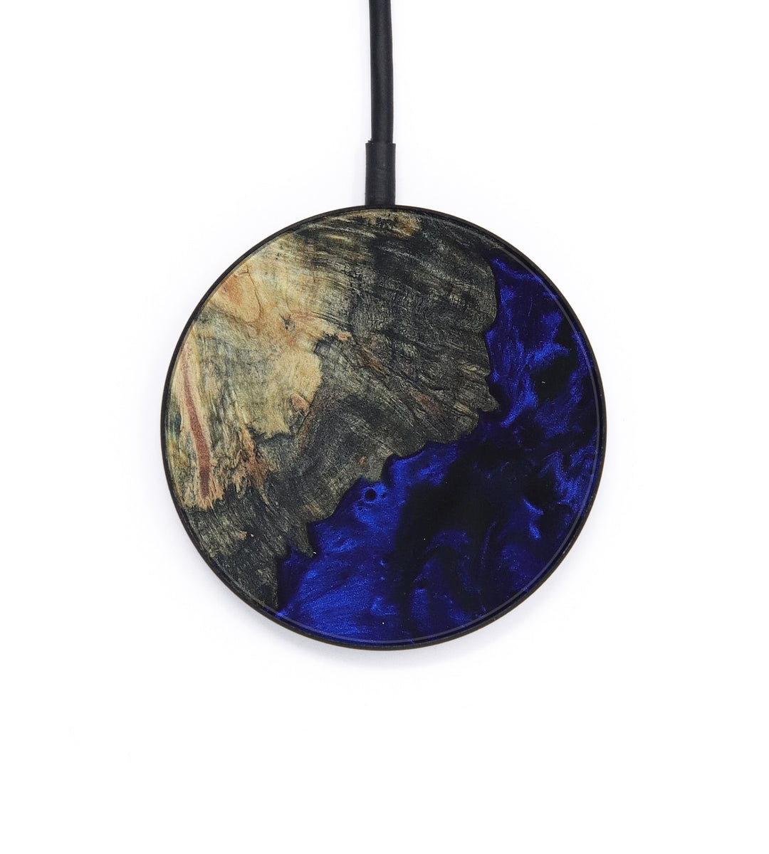 Circle Wood+Resin Wireless Charger - Zulfikar (Dark Blue, 393336)