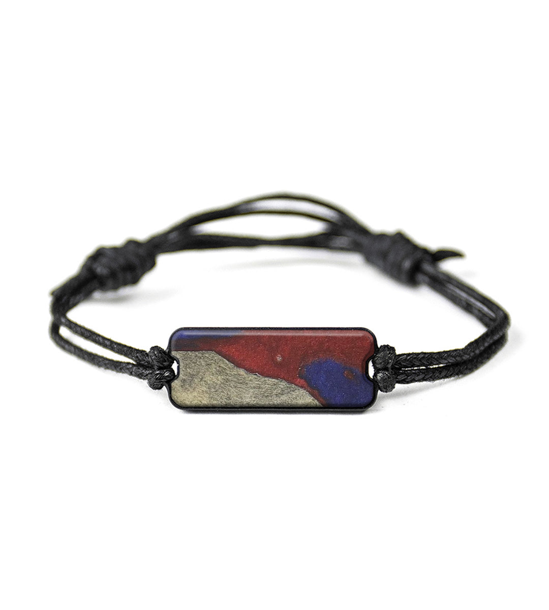 Classic Wood+Resin Bracelet - Abahri (Blue & Red, 358336)