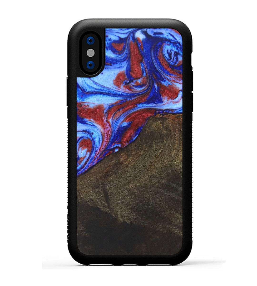 iPhone X Wood+Resin Case - Shuichi (Blue & Red, 332137)