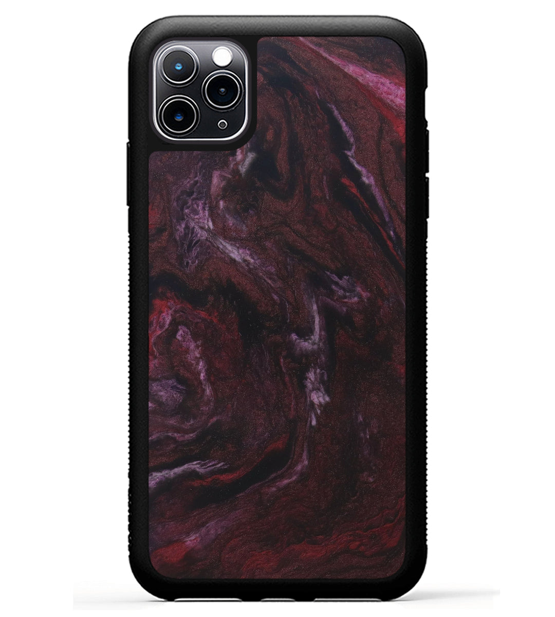 iPhone 11 Pro Max ResinArt Phone Case - Bessie (Dark Red, 347672)