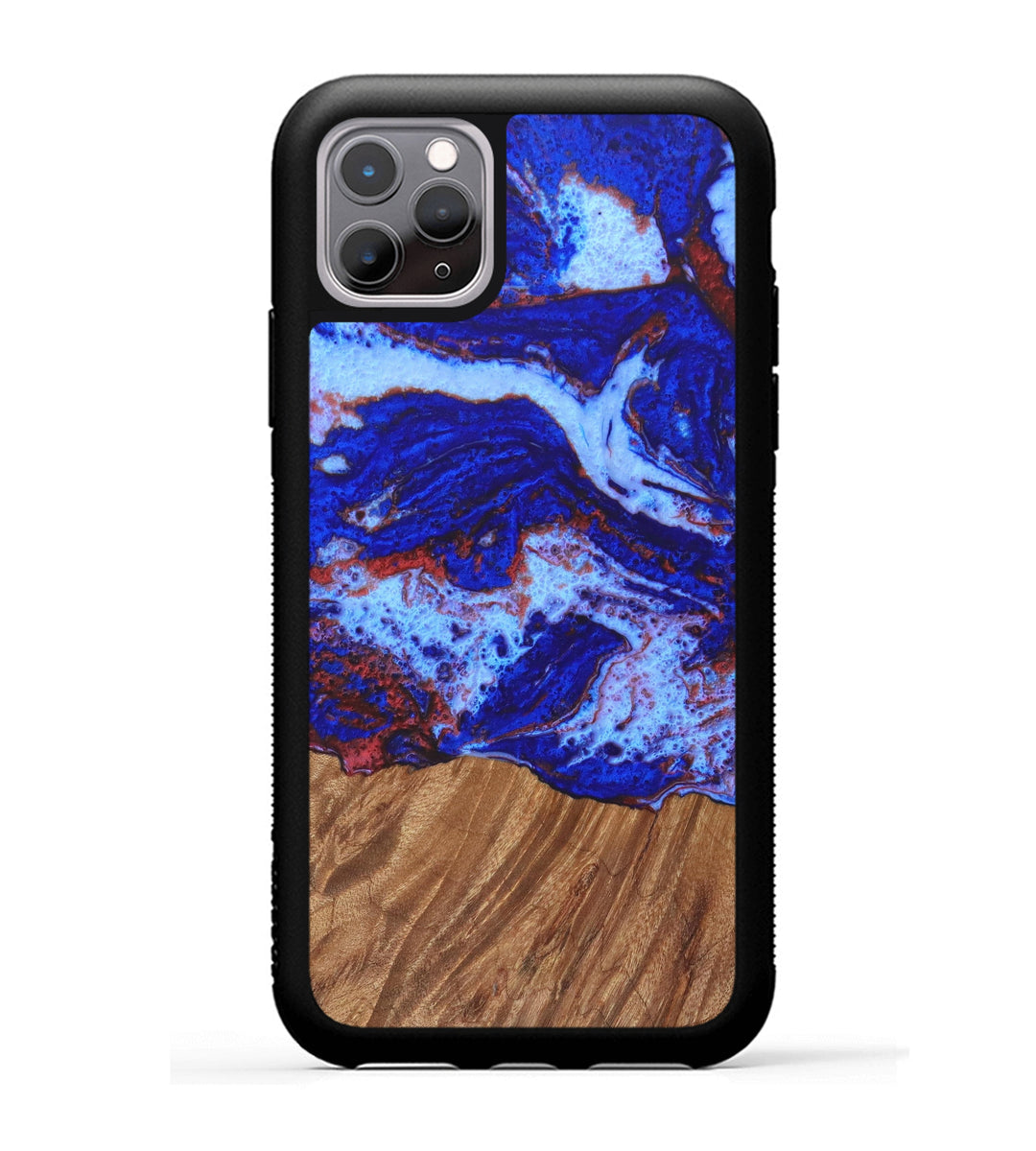 iPhone 11 Pro Wood+Resin Case - Jennette (Blue & Red, 334396)