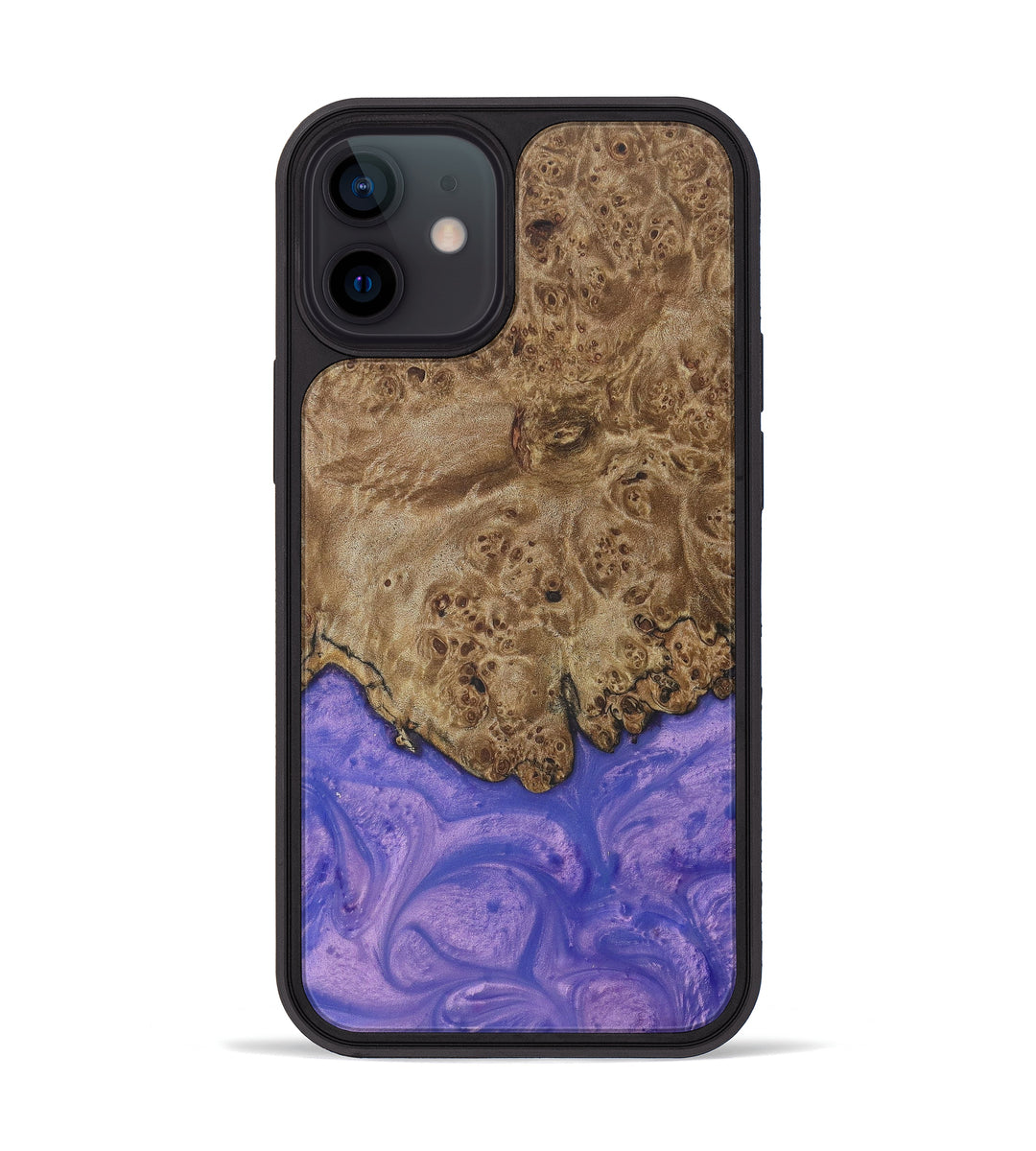 iPhone 12 mini Wood+Resin Phone Case - Tatsman (Purple, 399867)