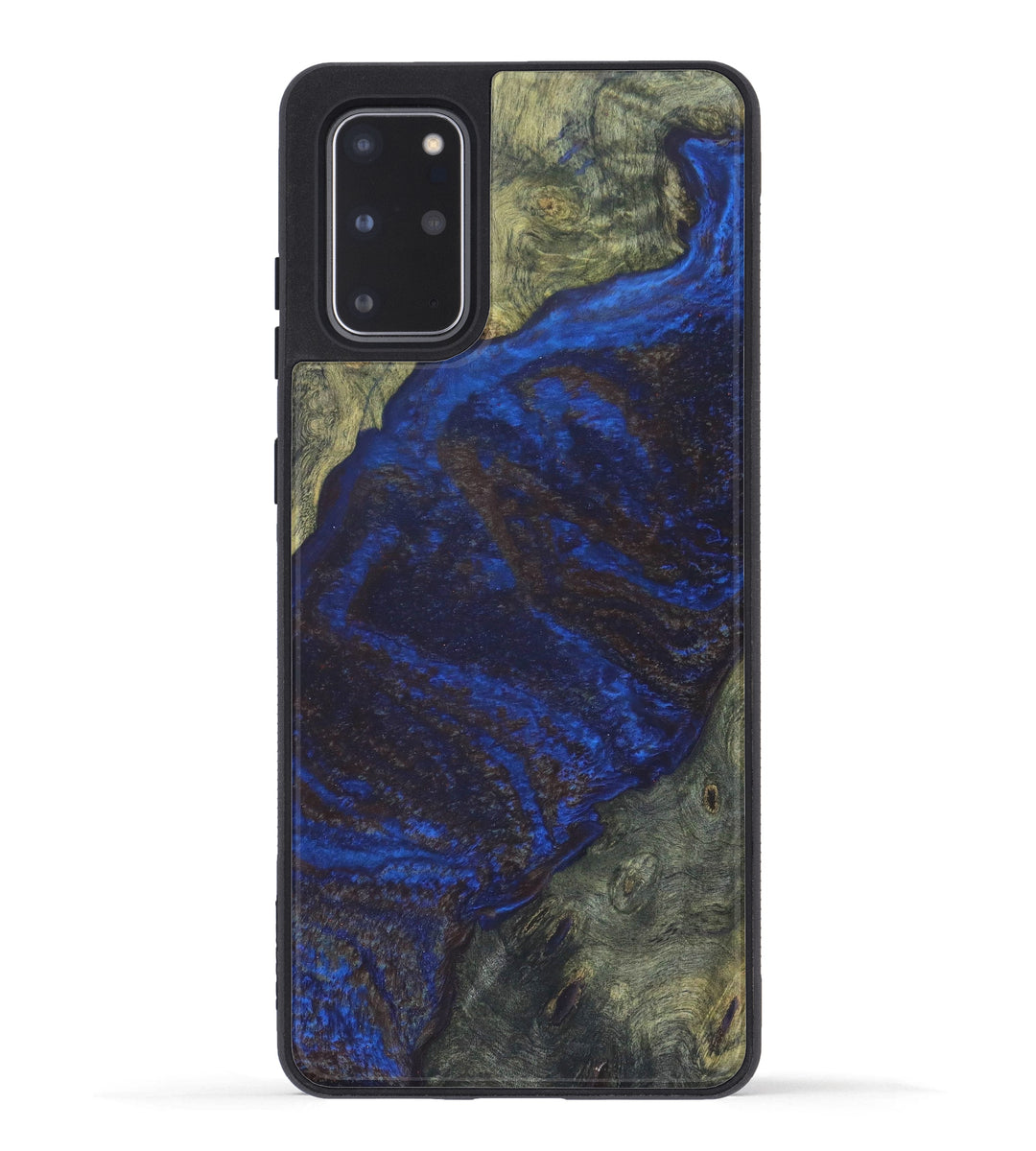 Galaxy S20 Plus Wood+Resin Case - Jed (Dark Blue, 334413)