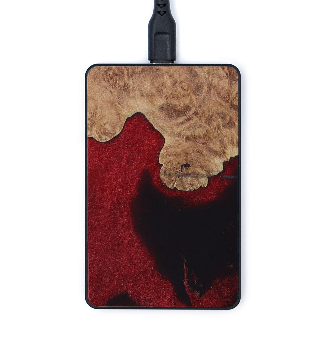 Thin Wood+Resin Wireless Charger - Hillary (Dark Red, 419875)