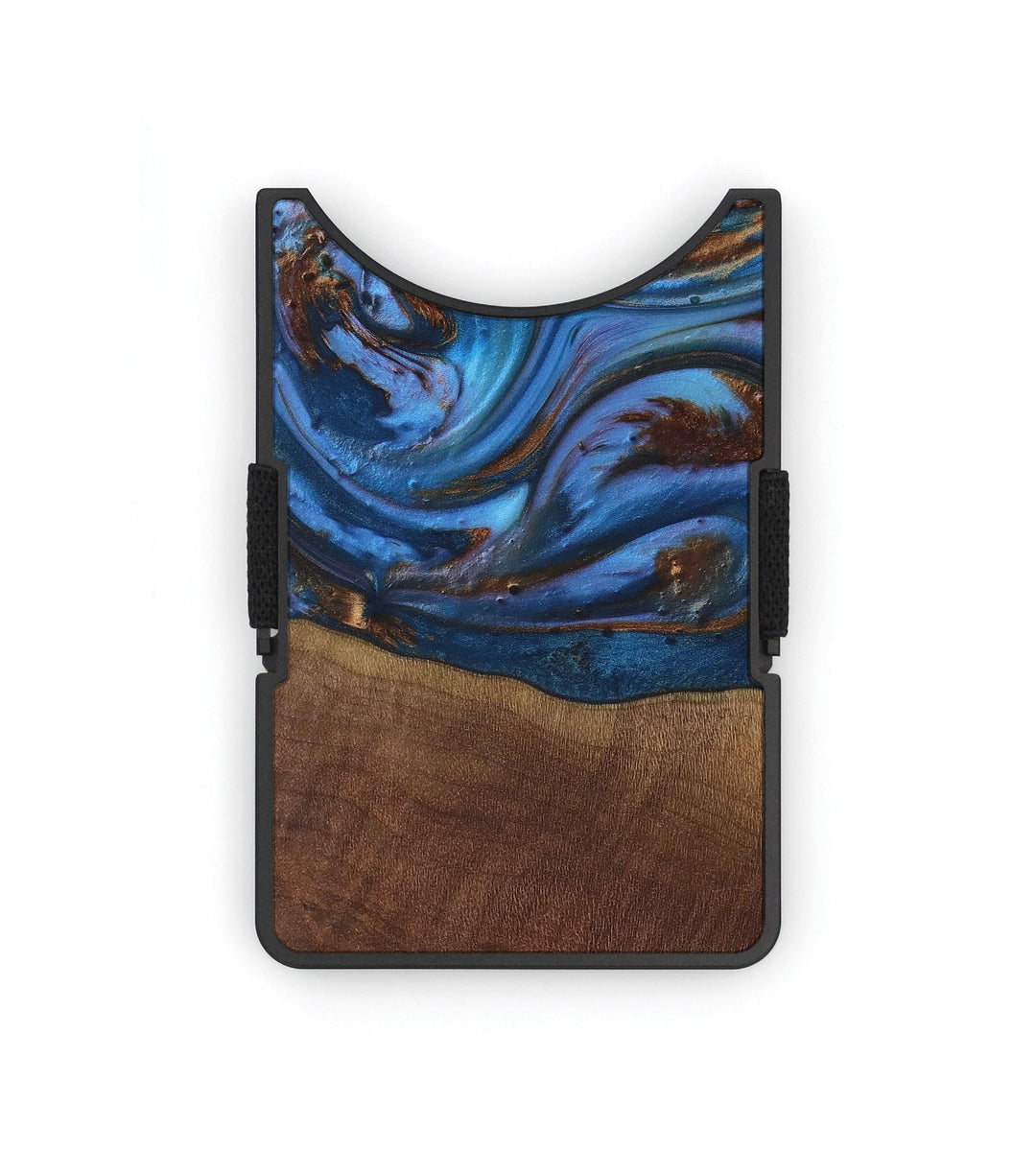 Alloy Wood+Resin Wallet - Melodie (Teal & Gold, 427483)