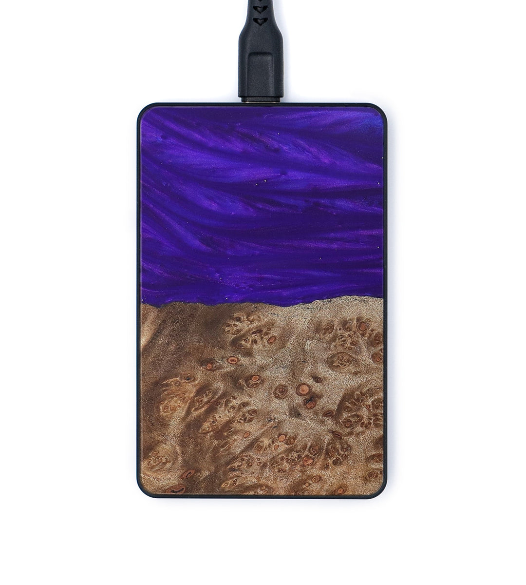 Thin Wood+Resin Wireless Charger - Brittney (Purple, 367969)