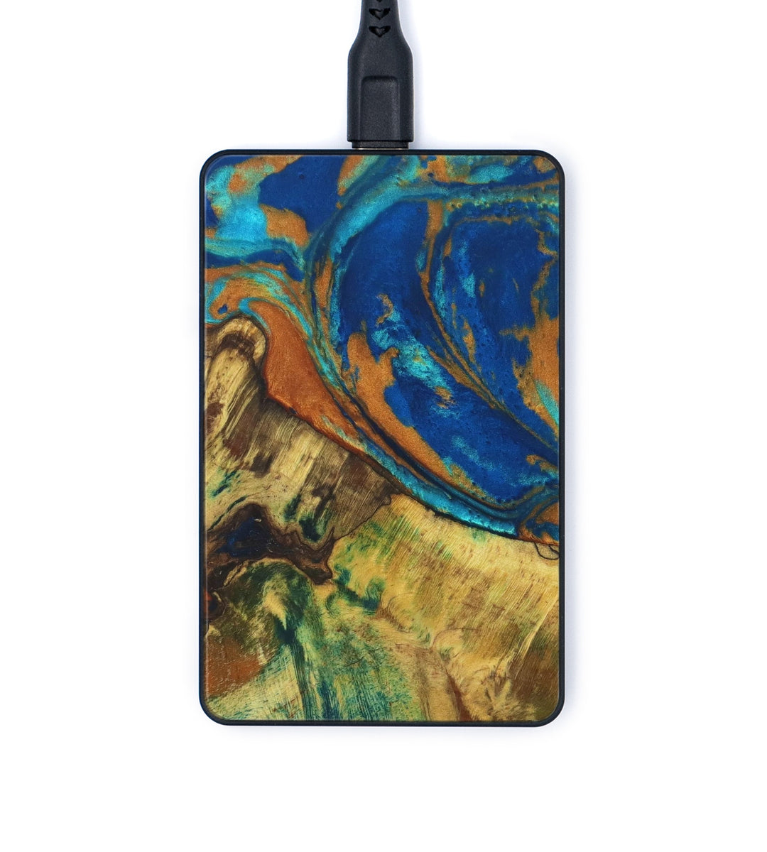 Thin Wireless Charger - Lovina (Teal & Gold, 334961)