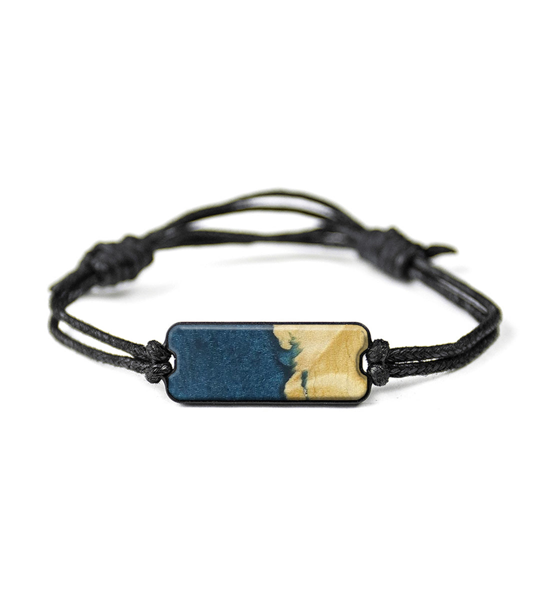 Classic Wood+Resin Bracelet - Yolande (Dark Blue, 423193)