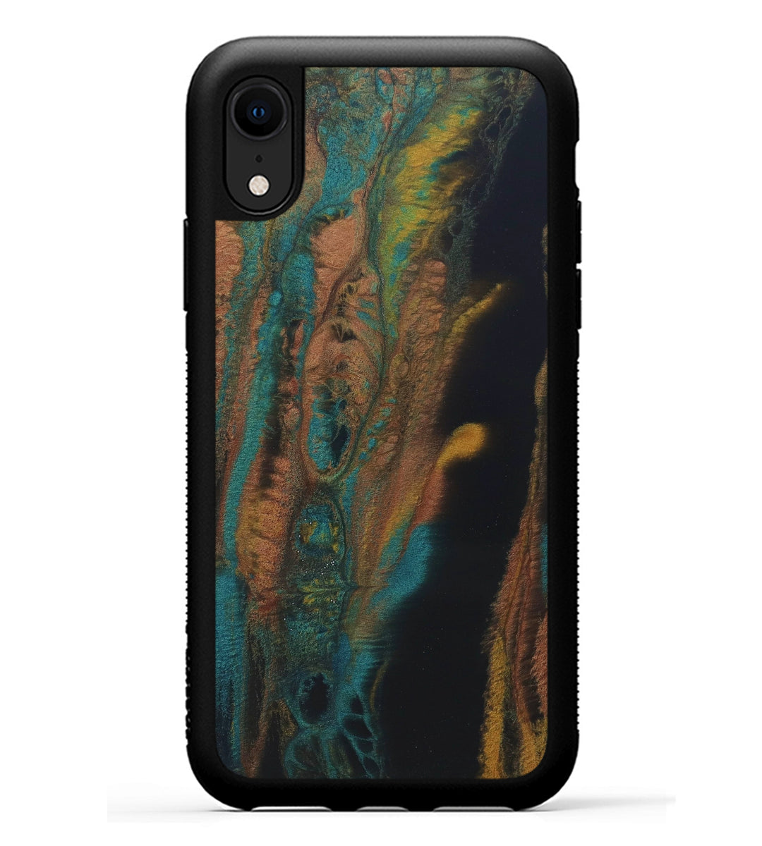 iPhone Xr ResinArt Phone Case - Coursdev (Teal & Gold, 347660)