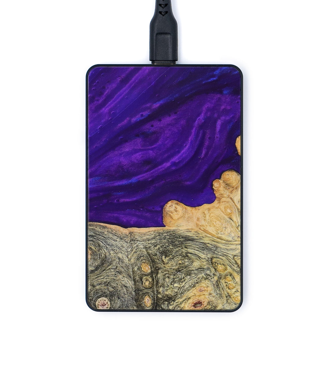 Thin Wood+Resin Wireless Charger - Katharina (Purple, 367977)