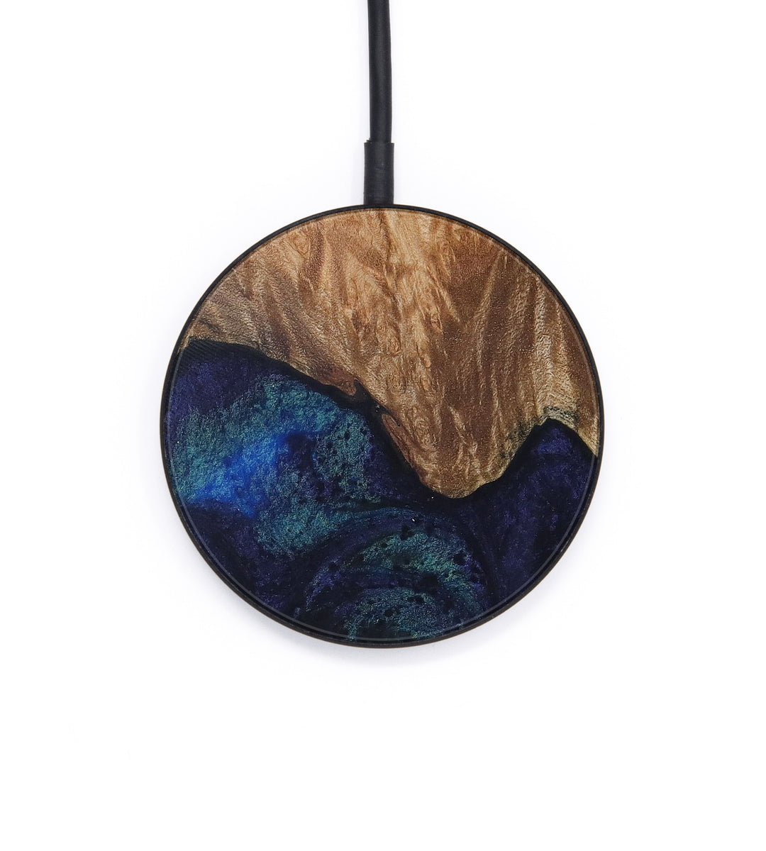 Circle Wood+Resin Wireless Charger - Gilbertina (Dark Blue, 404707)