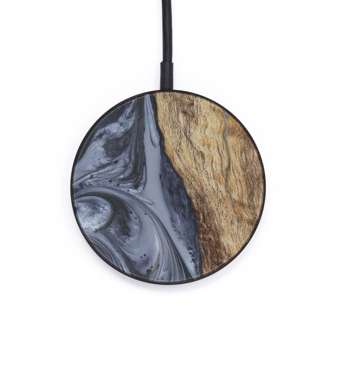 Circle Wood+Resin Wireless Charger - Maressa (Gunmetal, 407173)