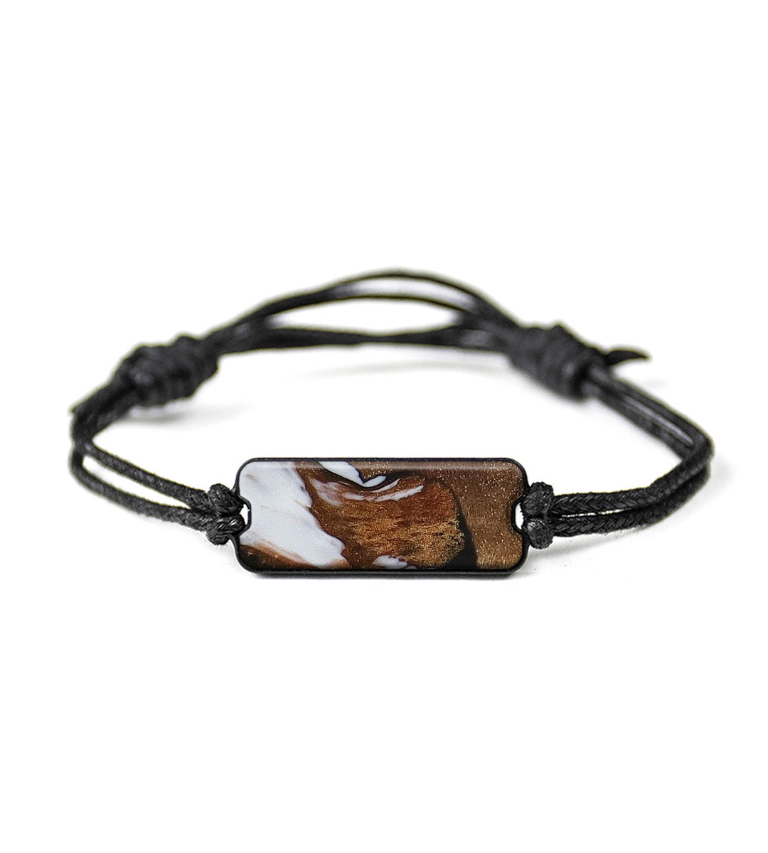 Classic Wood+Resin Bracelet - Kayley (Black & White, 393700)