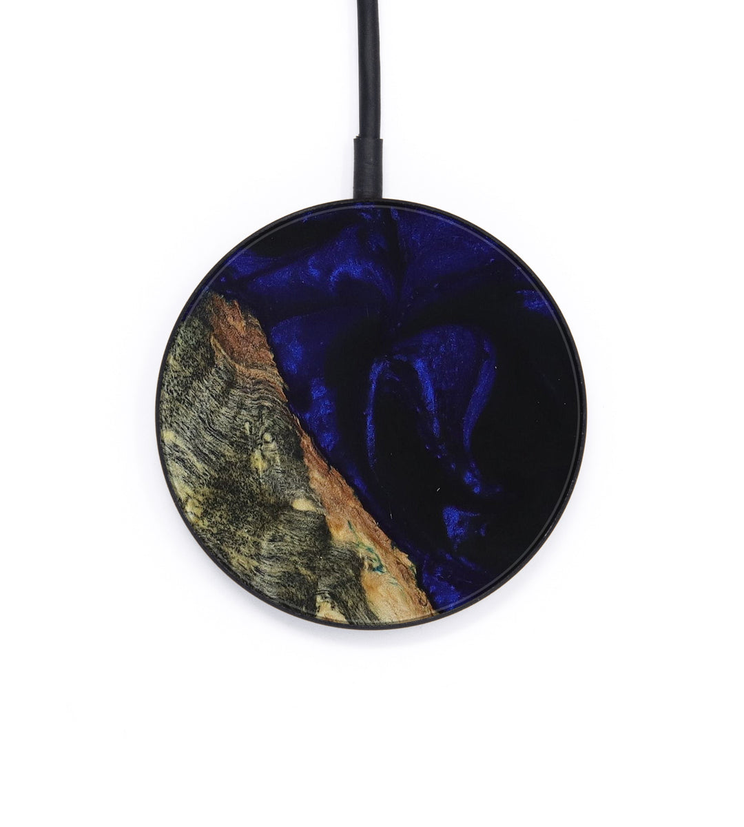 Circle Wood+Resin Wireless Charger - Colli (Dark Blue, 393327)