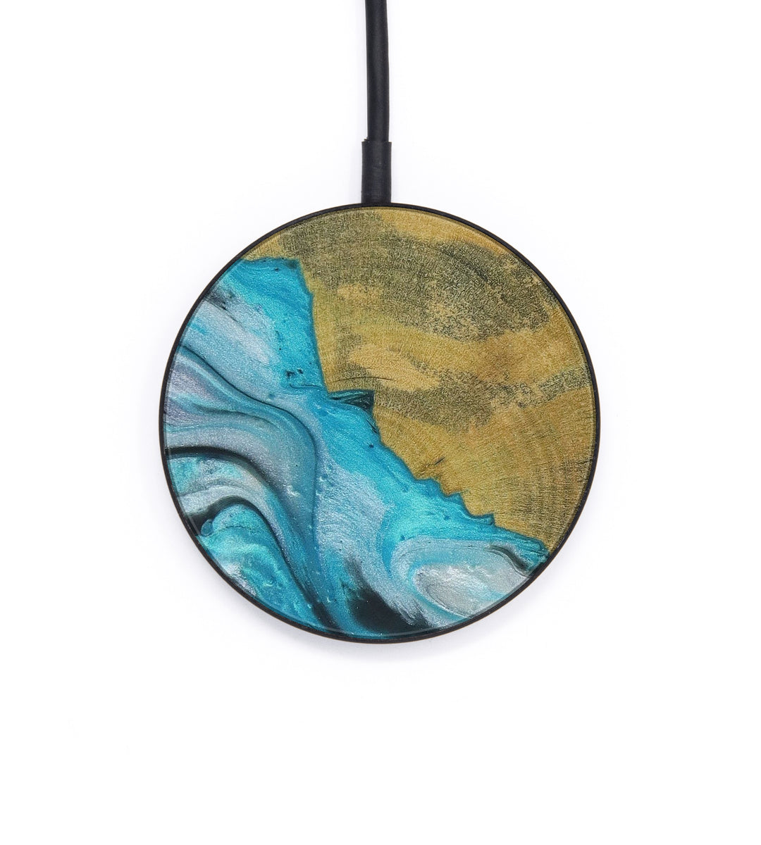 Circle Wood+Resin Wireless Charger - Blakelee (Light Blue, 426401)
