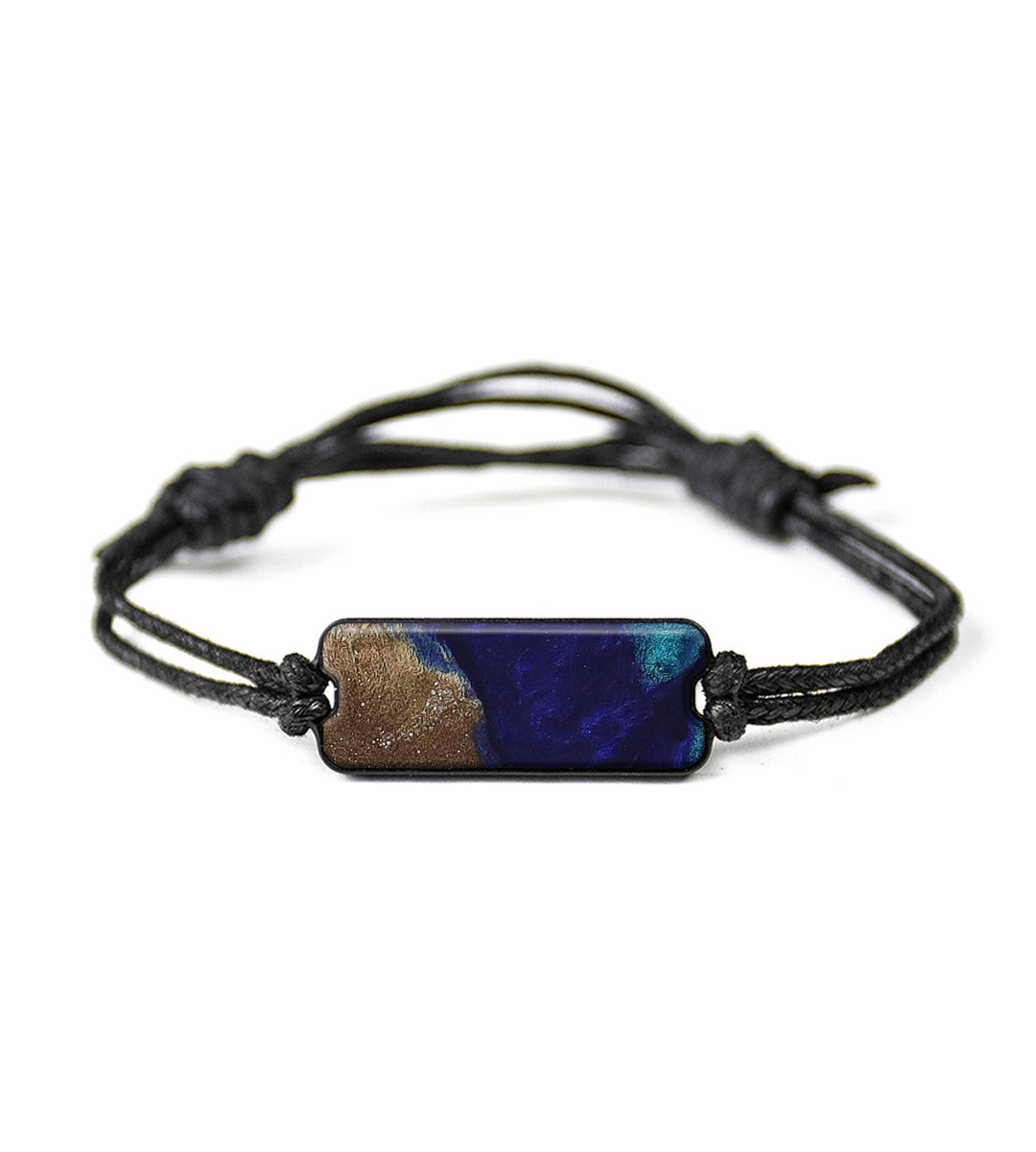 Classic Wood+Resin Bracelet - Josselyn (Dark Blue, 423097)