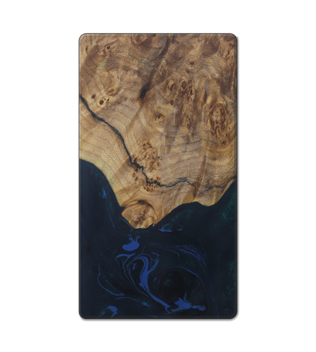 Custom Block Wood+Resin Live Edge - Randhir (Dark Green, 416288)
