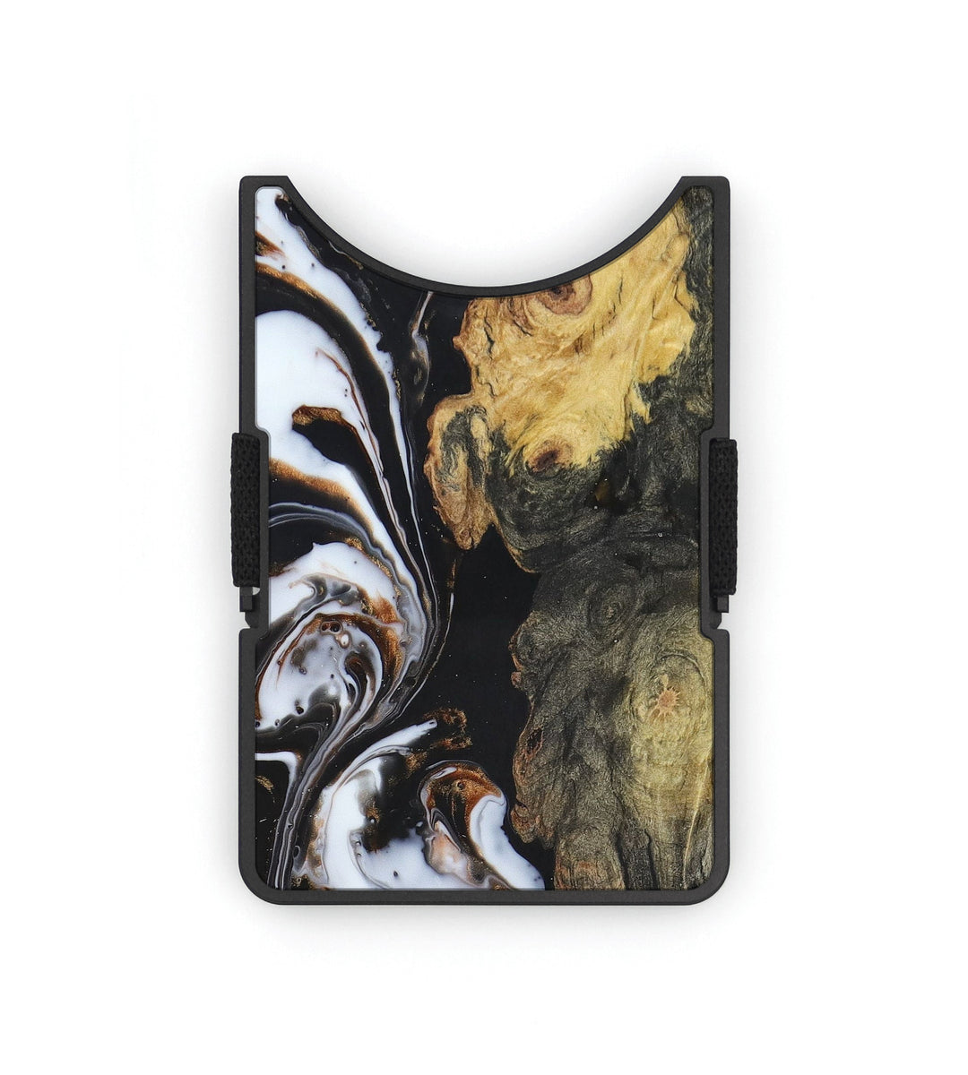 Alloy Wood+Resin Wallet - Petre (Black & White, 391574)