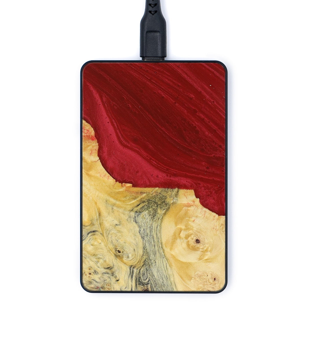 Thin Wood+Resin Wireless Charger - Moll (Dark Red, 383389)