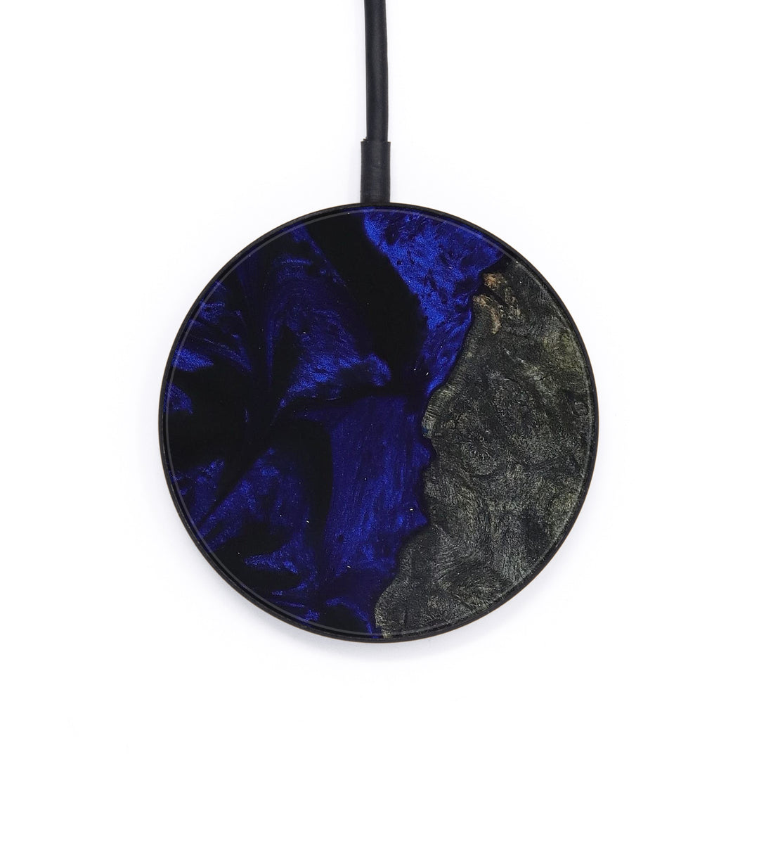 Circle Wood+Resin Wireless Charger - Faun (Dark Blue, 393337)