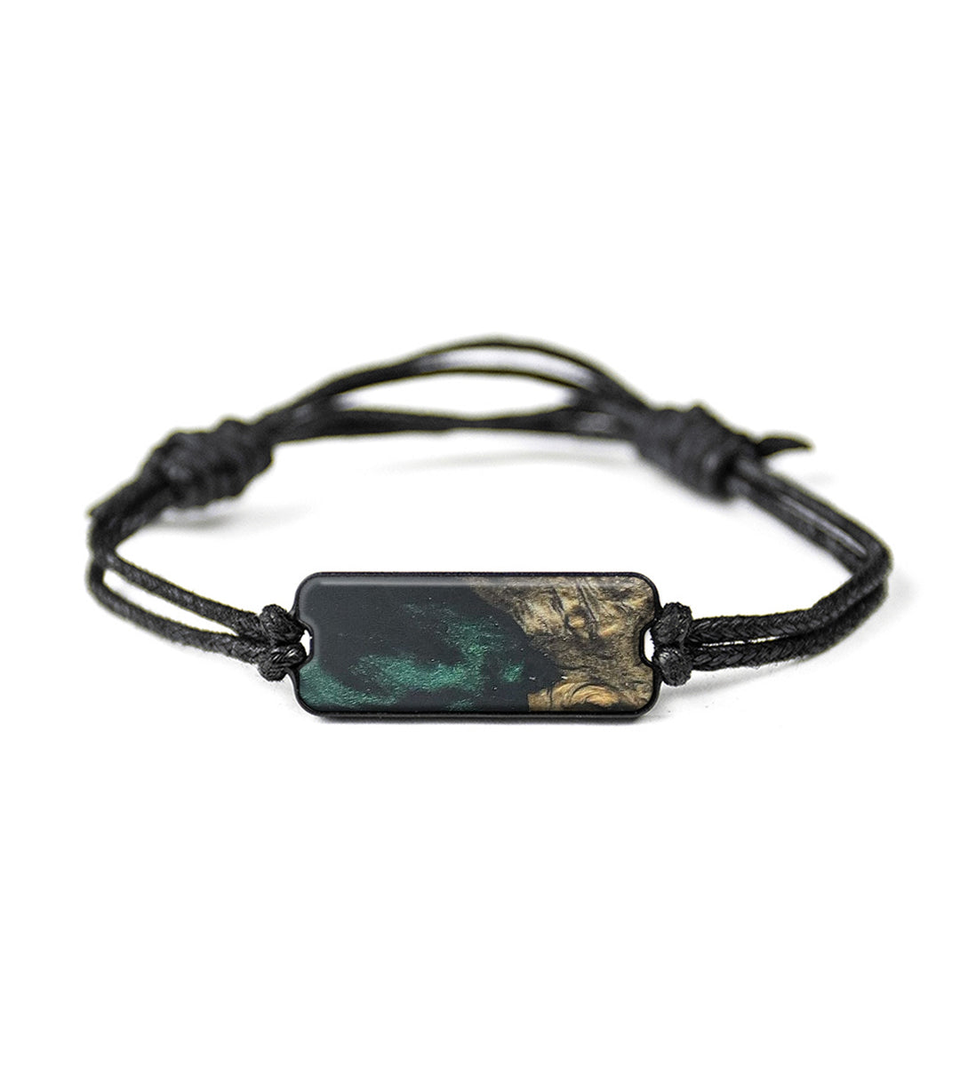 Classic Wood+Resin Bracelet - Ardith (Dark Green, 368770)