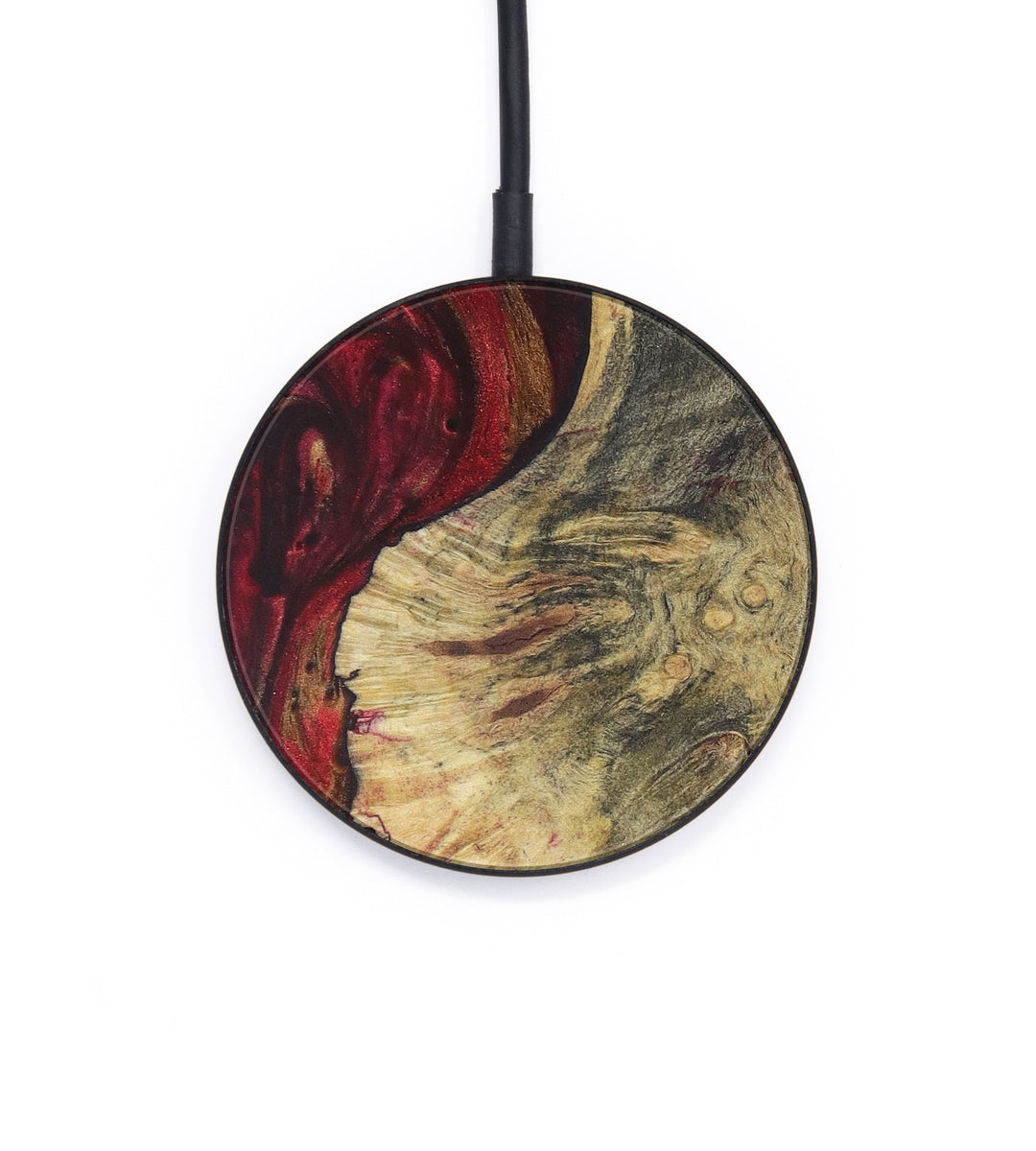 Circle Wood+Resin Wireless Charger - Dpnlab (Dark Red, 392830)